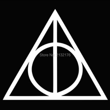 Deathly Hallows Harry Potter Die Cut Vinyl Decal Sticker for Car Window Bumper Truck Laptop Ipad Computer Skateboard Motorcycle(China (Mainland))