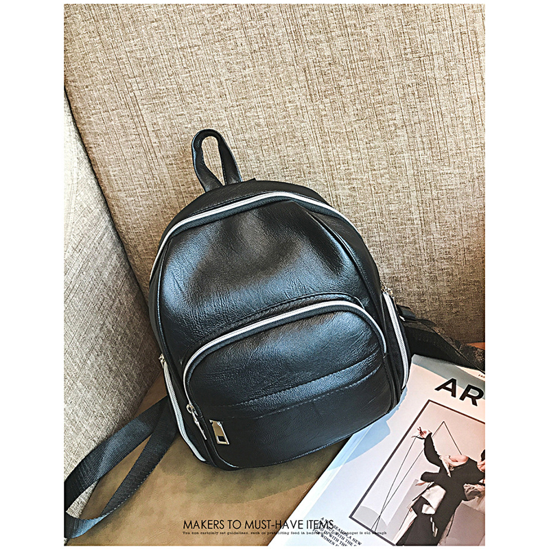 Casual small bag women pu leather Backpack female back pack black high quality bagpack for girl