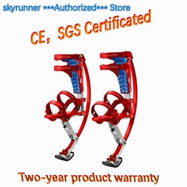 Jump Stilts Children Kids Skyrunner Weight is 44~88lbs/20~40kg Red Color/Exercise Parkour Flying Shoes Fun Fitness