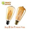 Led light bulb st64 golden led lamp e27 vintage edison filament bulb 220v power led energy saving lamp for home decor lamparas