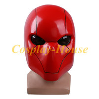 High Quality Cos Batman Helmet Cosplay Red Hood Mask Helmets Full head PVC Breathable Man Adult Halloween Party Prop