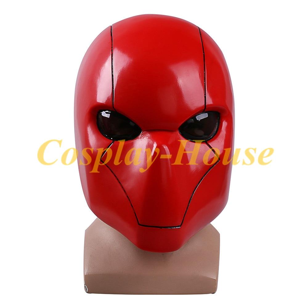 High Quality Cos Batman Helmet Cosplay Red Hood Mask Helmets Full head PVC Breathable Man Adult Halloween Party Prop
