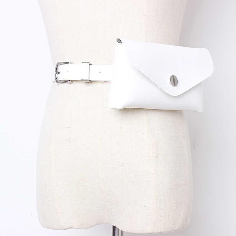 TWOTWINSTYLE летний однотонный пояс для женщин Высокая талия с фото мини сумки винтажные ремни платья аксессуары Мода 2019 Новинка