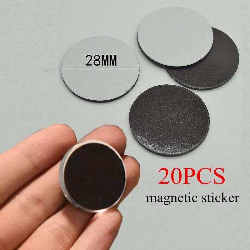 20 PCS 23mm / 28mm Round Magnetic Paper Fit Glass Cabochon Magnet 25mm / 30mm DIY Magnetic Jewelry Findings Supplies