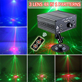 48 In 1 Stage Effect Christmas Mini LED Laser Light Disco Laser Projector Light Show Equipment With Remote For DJ, Party, KTV