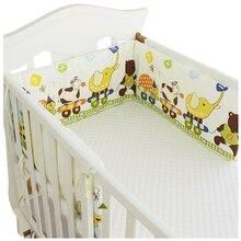 Simple Style U Shaped Baby Bed Bumper Detachable Cotton Crib Bumper Baby Nursing Crib Protector Pad Long Cot Bumper, 180*30cm цена