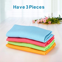 Have 3 Pieces Cabin cloth Absorb water lint water scars rag Cabo towel Kitchen wipe the tablecloths RD605