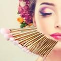 15PCS Rose Gold Makeup Brush Set Professional Make Up Beauty Eyeshadow Eyeliner Lip Contour Brush Makeup Tool Set #92963