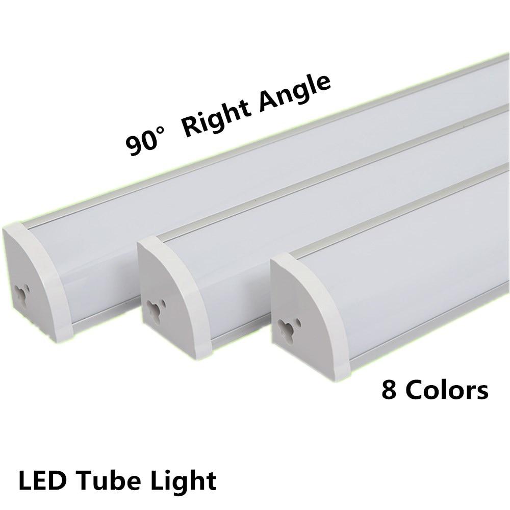 90 Degree Wall Corner LED Bar Light 2835 17 30 LED 30CM 50CM V Shape Aluminum LED Hard Rigid Bar Light Cabinet Lamp Warm White