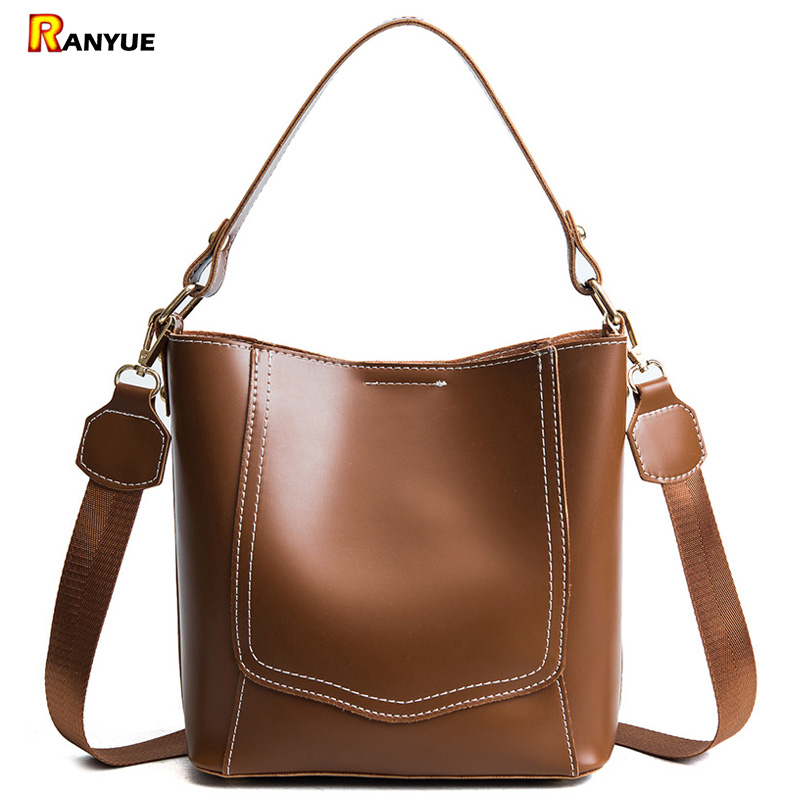 2018 Vintage Bucket Bags Handbags Women Famous Brands Designer High Quality Pu Leather Women Shoulder Bag Bolsos Bolsa Feminina women peekaboo bags flowers high quality split leather messenger bag shoulder mini handbags tote famous brands designer bolsa