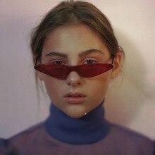Unisex Flat Top Eyeglasses Small Triangle Frame Cat Eye Sunglasses Women UV400 2018 Fashion Color Ocean Film Sun Glasses Cool