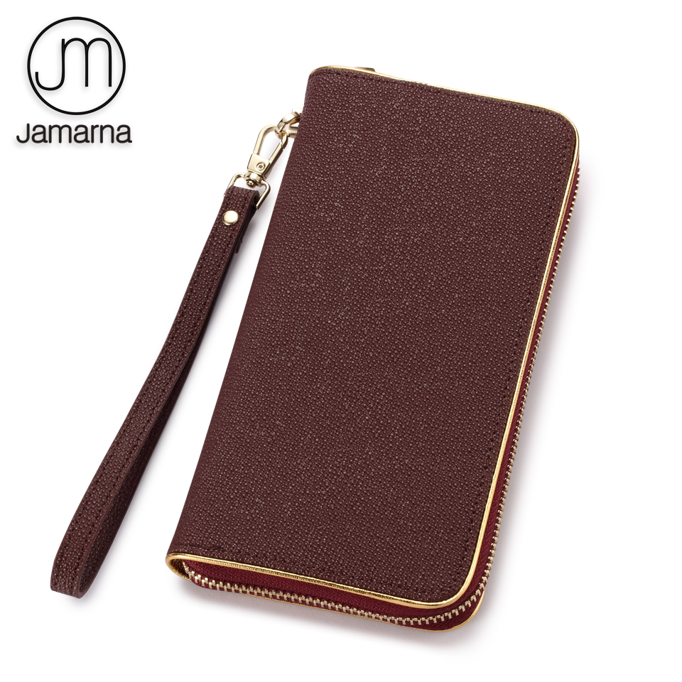 Jamarna Genuine Leather Wallet Female Stingray Pattern Long