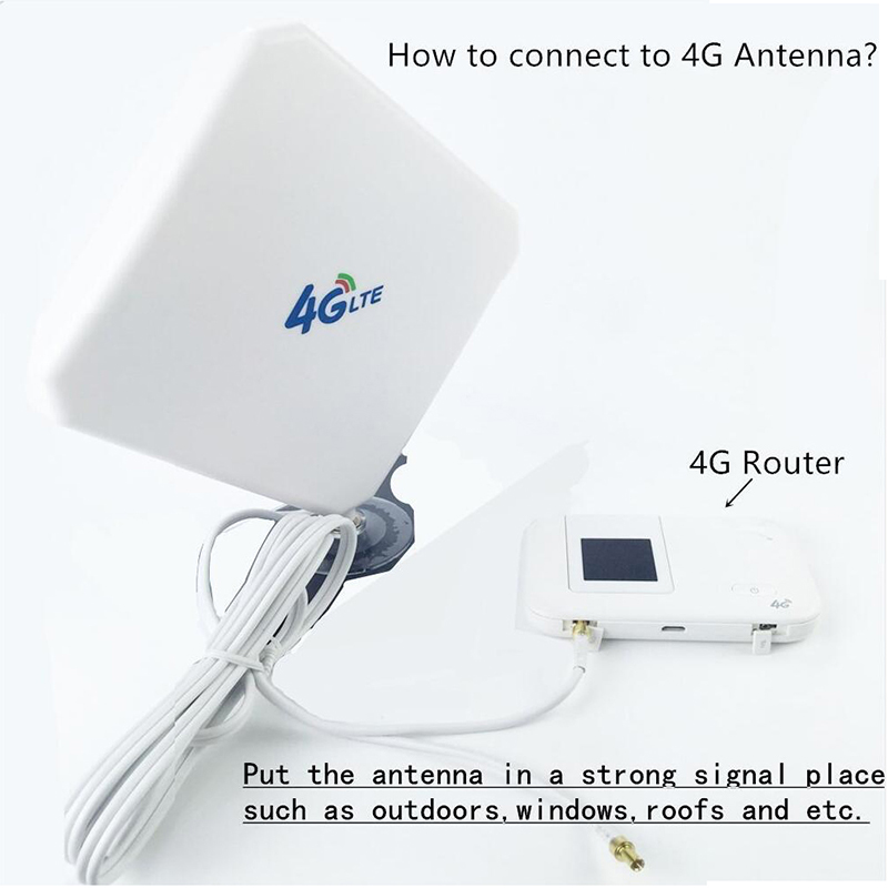 Image 5 - 3G 4G LTE Antenna SMA CRC9 TS9 Connector Wifi Signal Booster 