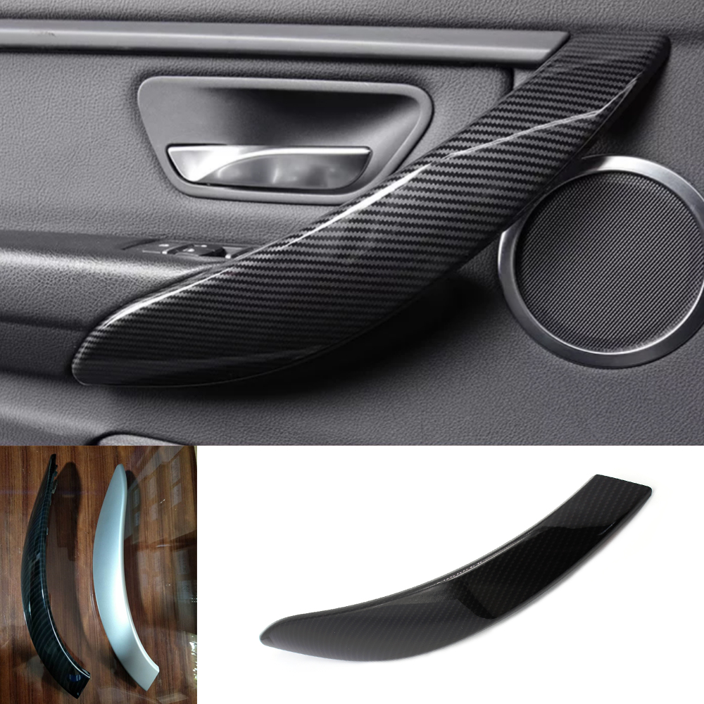 Car Styling Door Pull Handle Armrest Cover Trim For BMW 3 series F30 F31 F32 F33 F35 F36 2012 - 2017 Carbon Fiber Style / Black for bmw lhd carbon fiber auto door handle knob exterior trim covers for bmw 1 3 4 series e90 e92 e93 f30 f35 2005 15 sticker