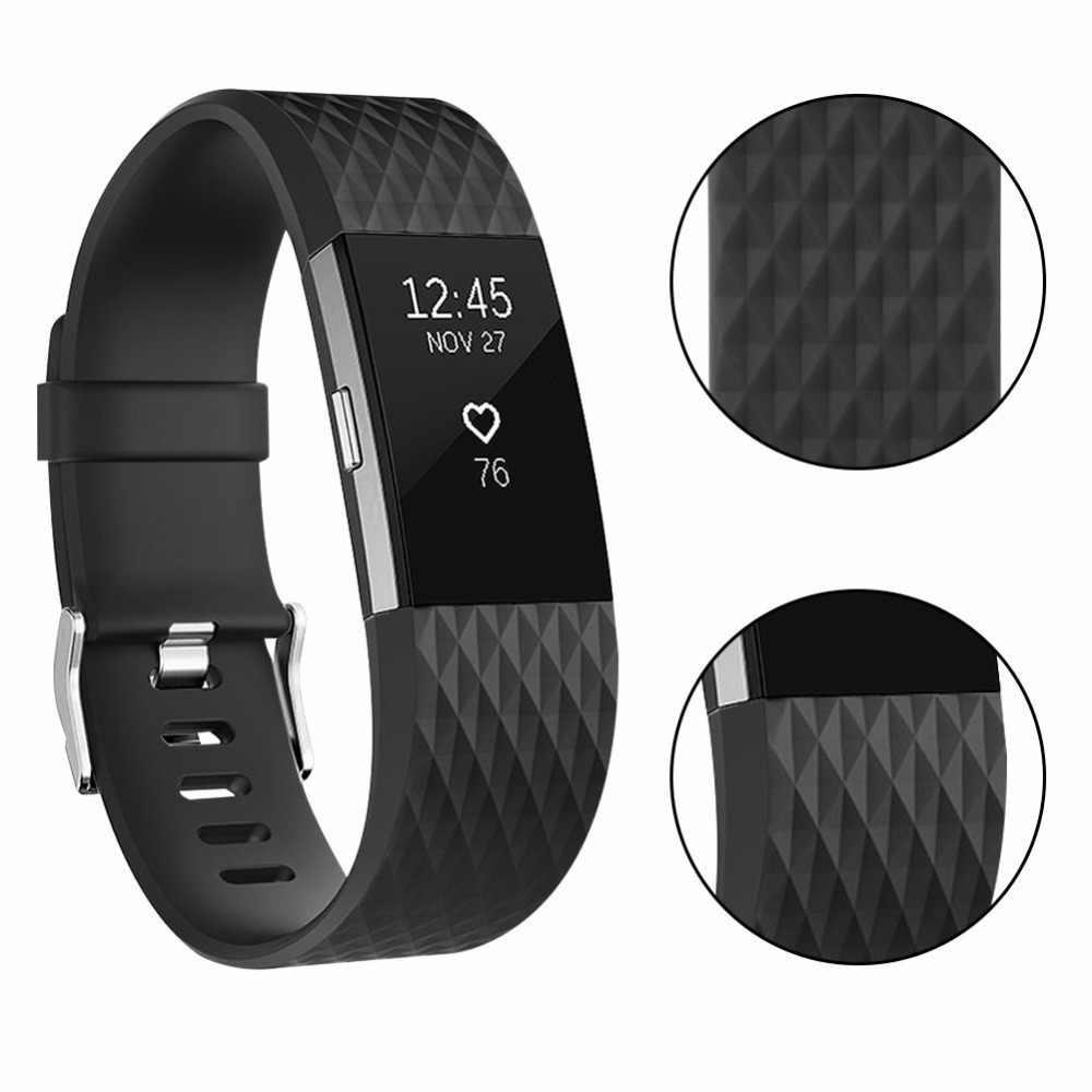 Мягкие силиконовые полосы для браслета FitBit Charge 2 Смарт часы браслет для браслета FitBit Charge 2 s Аксессуары для браслета FitBit Charge 2