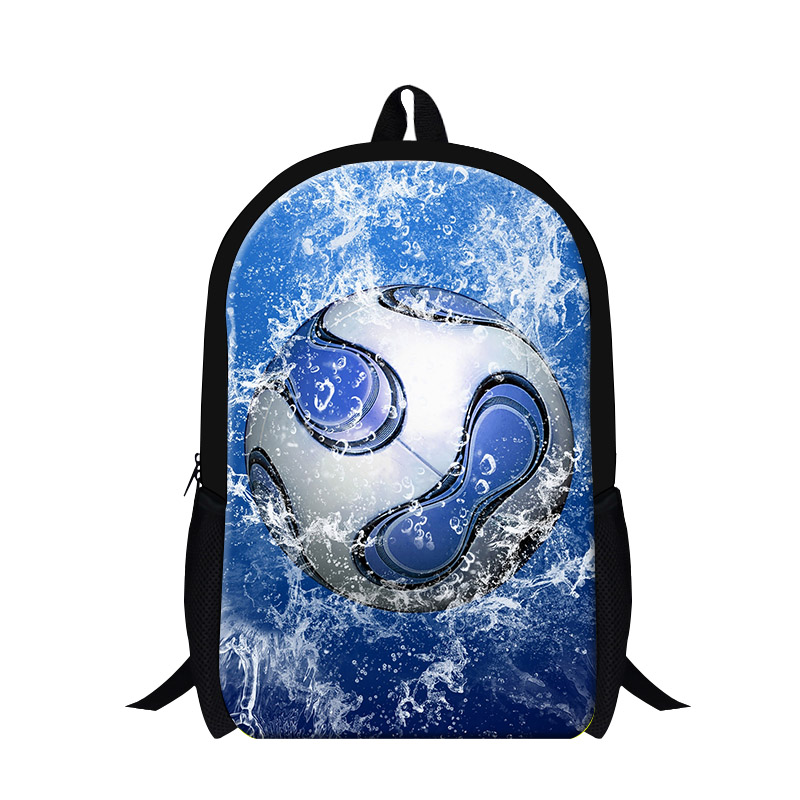Fashion ball 3D printing Backpack for boys personalized back pack for high class students,cool childrens stylish school bookbags