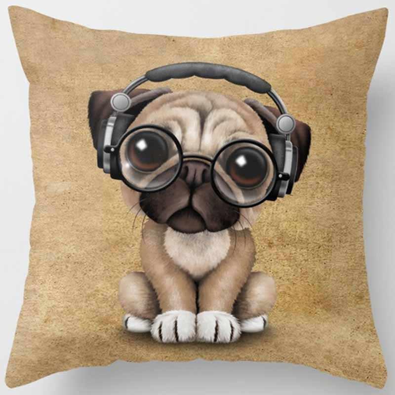 Лидер продаж Красота мультяшная собака кошка наволочка для подушки с изображением животного для мужчин и женщин Квадратные наволочки Милая Подушка-обезьяна крышка 45*45 см