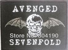 AVENGED SEVENFOLD crâne chauve-souris groupe de métal lourd musique fer sur/coudre sur Patch t-shirt transfert MOTIF APPLIQUE Rock Punk Badge(China)