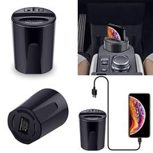 Fast Car Wireless Charger Mobile Phone Qi Stand for iPhone X/8/Plus Samsung S9/8/7/6edge Sony LG MIX USB Induction Charge Holder fast car wireless charger cup qi charging stand for iphone x 8 plus samsung s9 8 7 6edge sony lg mix usb induction charge holder