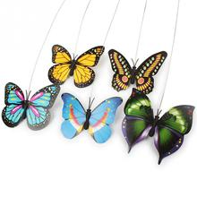 Funny Electric butterfly flying around the flower pet cat toys Cat Pet Toy