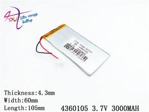 Image 2 - LÍT năng lượng pin máy tính bảng 4360105 3.7 V 3000 MAH 4060105 Đa Năng pin Li ion cho máy tính bảng 7 inch 8 inch 9 inch