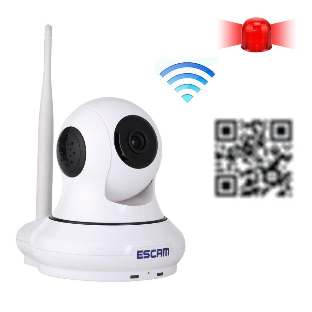 mini IP Camera Onvif HD 720P P2P Wirless Wifi Home Security CCTV Camera with door sensor Support 32GB TF card  Night Vision escam patron qf500 hd 720p mini ip camera onvif p2p wirless wifi home security cctv camera with door sensor support 64gb tf card