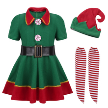 Child Kid Boy Girl Christmas Elf Costume Outfit
