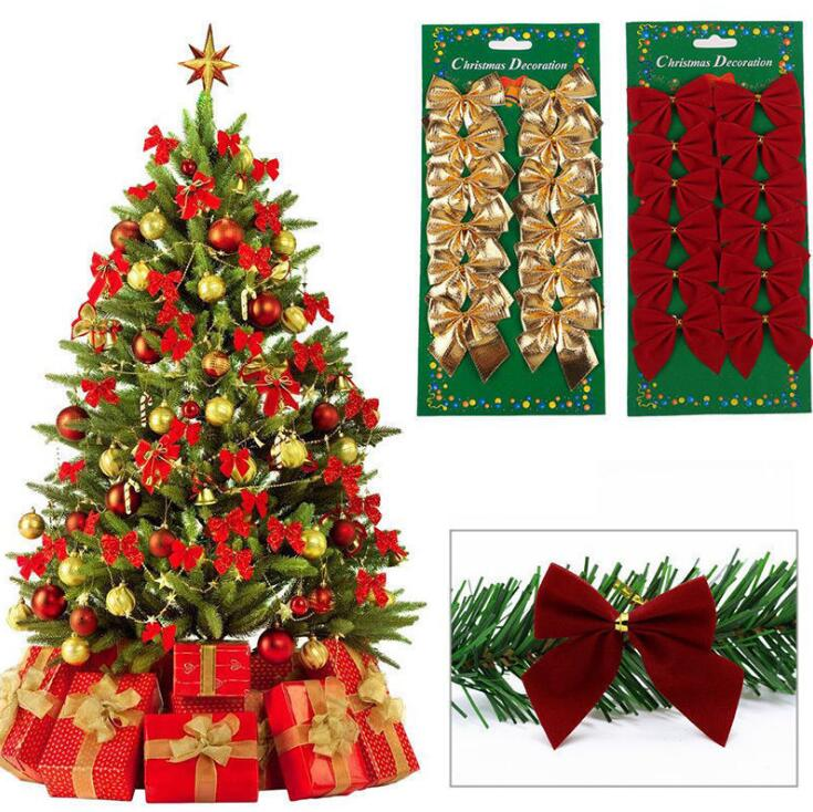 600pcslot christmas tree cute bows mini christmas ribbon bows for tree decoration presents decorations charms wedding ornaments