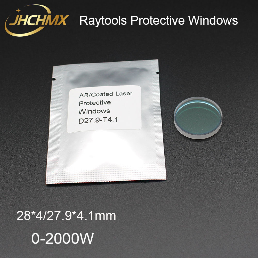 JHCHMX Raytools Protective Window 28 4 27 9 4 1mm JGS1 Quartz Protection Lens For Raytools