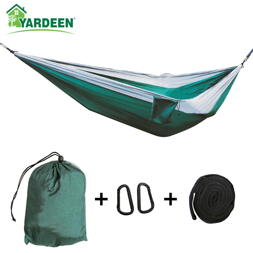 300*200cm Tree Hammocks Camping Indoor Outdoor Portable Parachute Hammocks For Hiking Survival Travel With Three Color Available