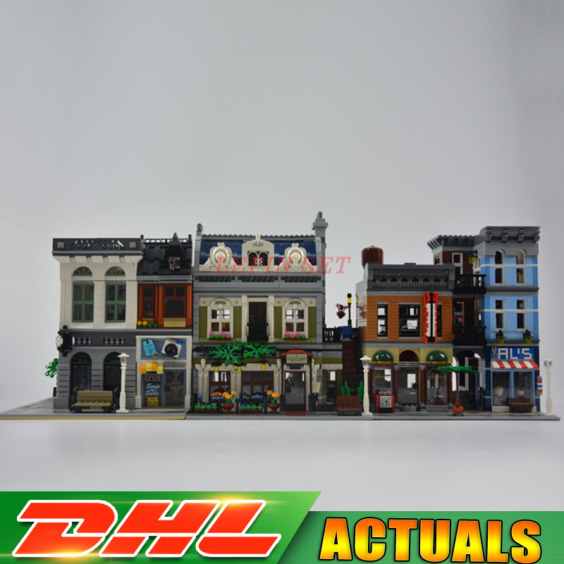 DHL City Town Street Series LEPIN 15001 Bank 15010 Parisian Restaurant 15011 Detectives Office Model Building Kit Blocks 10246