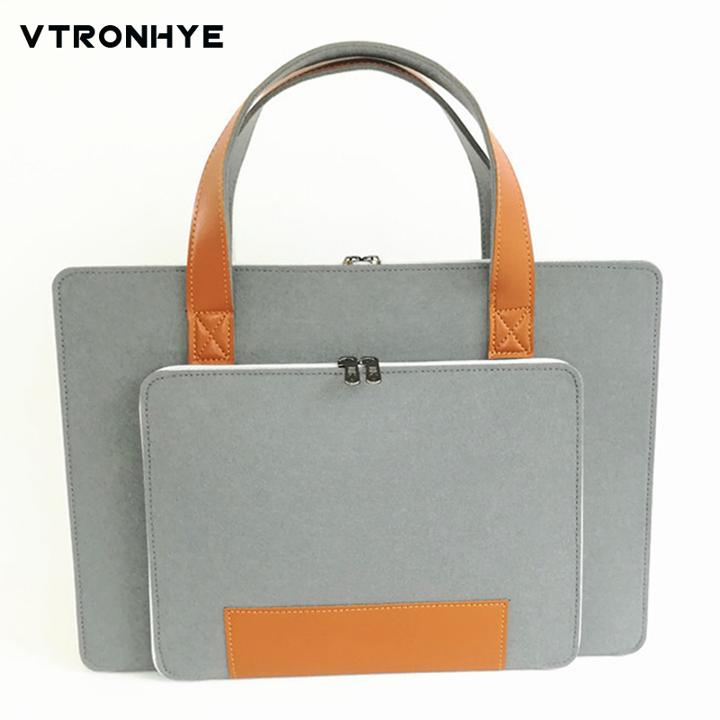 Laptop Bags 17 inch Super light Wool felt Laptop Briefcase 11 13 14 15 15.6 for Mac book/lenovo/hp/dell Laptop bag for Men Women