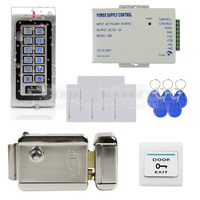 W1 DIY Complete RFID Access Control System Kit Set Electric Door Lock RFID Cards Power Supply
