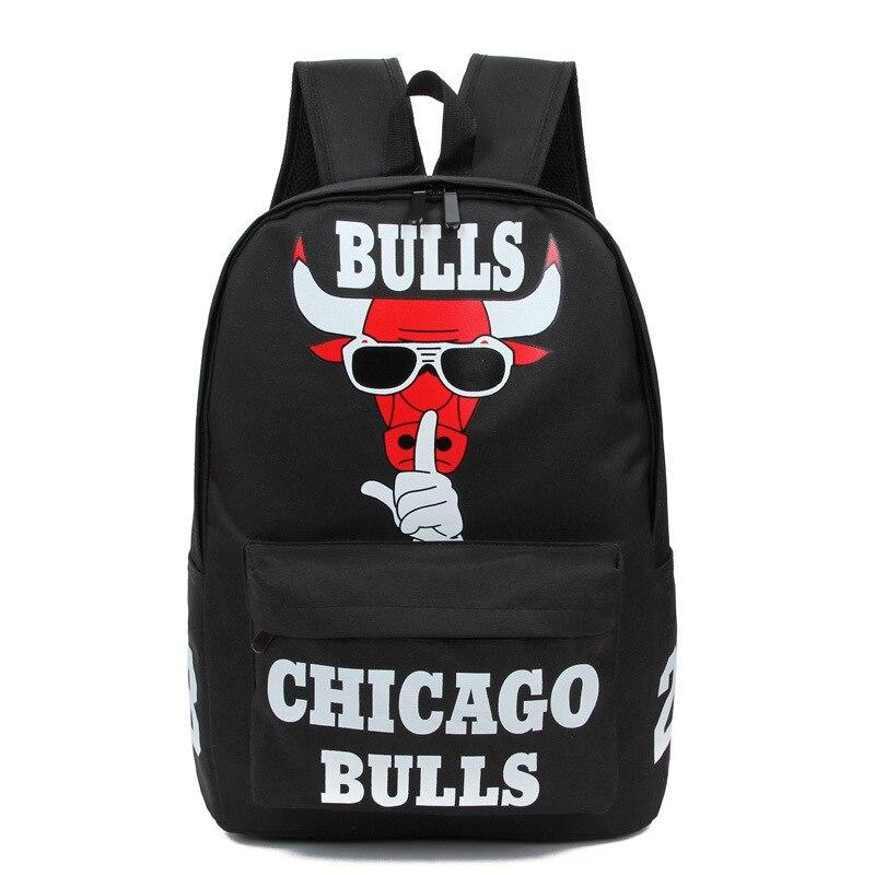 2017 New Bulls Pelican Team Print Canvas Shoulder Bag Large Capacity Junior High School Student Bag sac a main