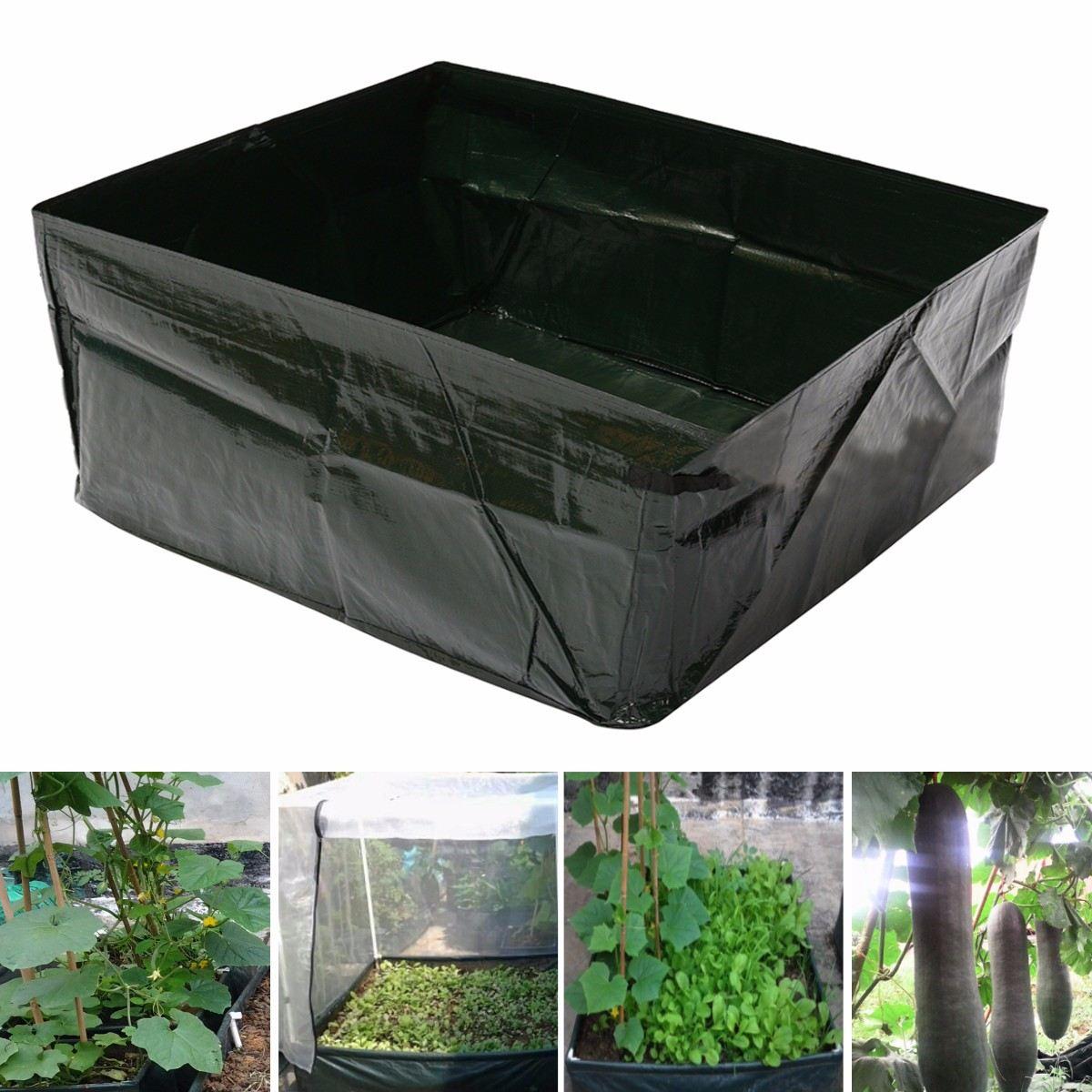 Green pe plastic grow bag plant flower nursery bag vegetable greenhouse planter garden orchard - Must tools small garden orchard ...