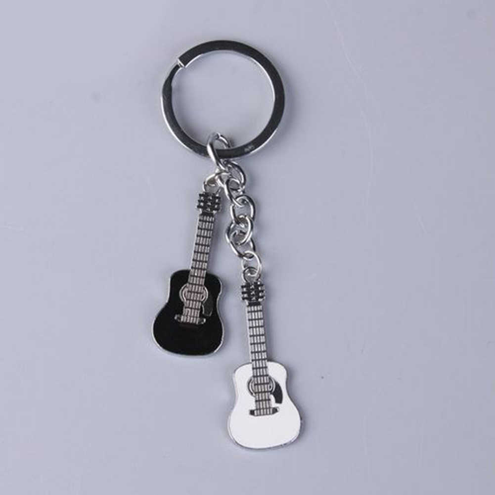 New Hot Cute Classic Unisex Metal Guitar key chain ring keychain Novelty Creati