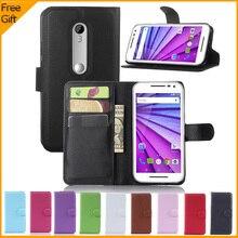 2015 New Luxury Wallet Flip PU Leather Case Cover For Motorola Moto G3 Cell Phone Cover For Motorola Moto G 3rd Gen Back Case