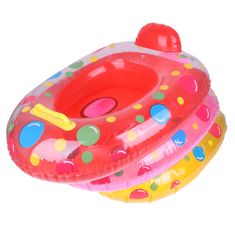 Cartoon Portable Summer Baby Kids Safety Swimming Ring Inflatable Swim Float Water Fun Pool Toys Swim Ring Seat Boat Water Sport(China)