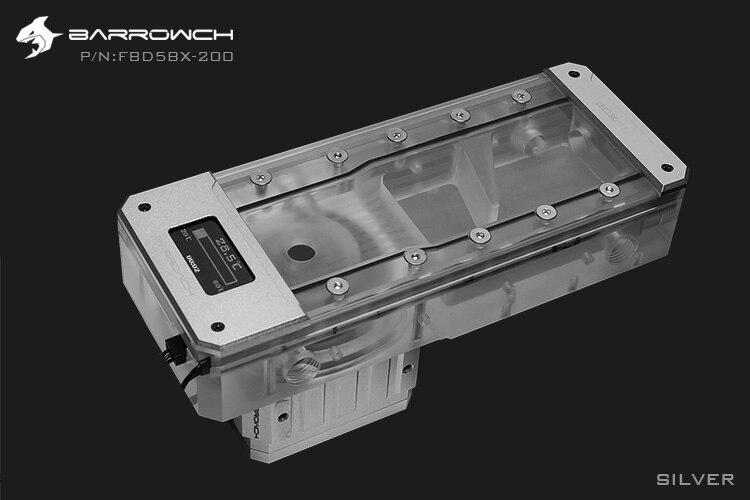 Barrowch FBD5BX, affichage numérique PWM 18W pompe avec combinaisons de réservoir, boîte poisson série D5, pompe intégrée + réservoir