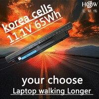HSW battery 65WH For DELL XRDW2 YGMTN VR7HM W6XNM X29KD T1G4M V1YJ7 V8VNT MR90Y N121Y PVJ7J G019Y G35K4 bateria akku