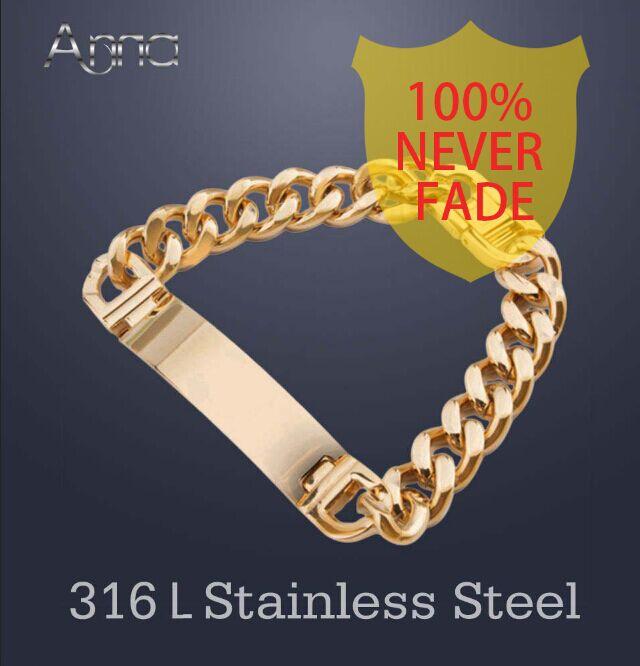 A & N AAA + Ne Se Fanent Jamais!! Acier inoxydable ID Bracelets Hommes De Mode Bijoux, occasion d'occasion  Livré partout en France