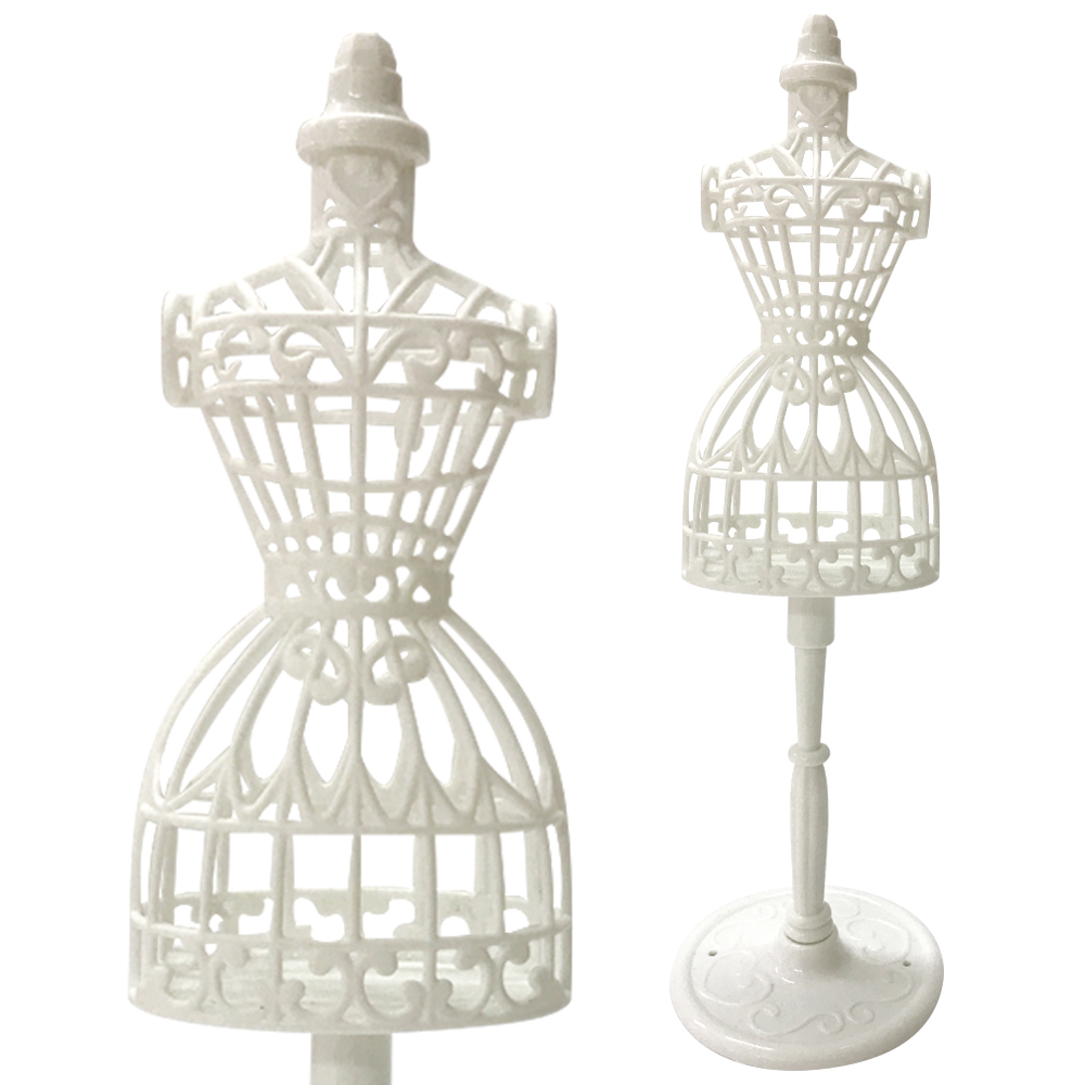 Mannequin Dress Clothes Gown Model Stand for Barbie Doll Display Holder Noted So