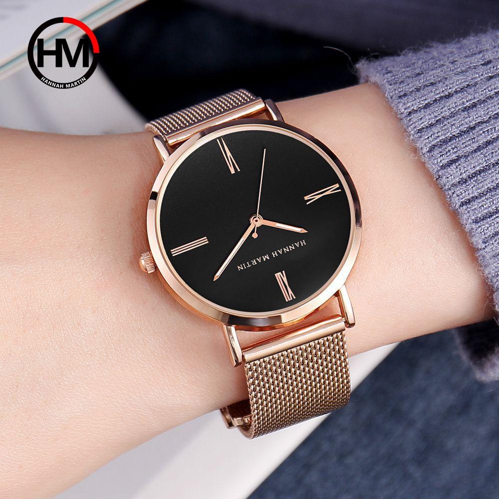 Minimalist Style Watch Women Luxury Brand Ultra Thin Quartz Steel Mesh Wrist Watches Fashion Casual Rose Gold Ladies Dress Clock