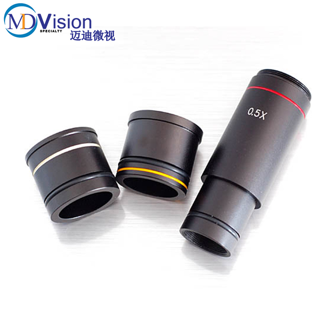 Microscope Camera 0.5X C-Mount Lens /CCD CMOS Camera Digital Eyepiece Adapter 0.5X Reducing Lens,23.2mm+30mmm+30.5mm Ring