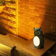 Solar Powered Night Light Lamp Sensor Garden Yard Outdoor Figurines Gardening Lights Decoration Resin