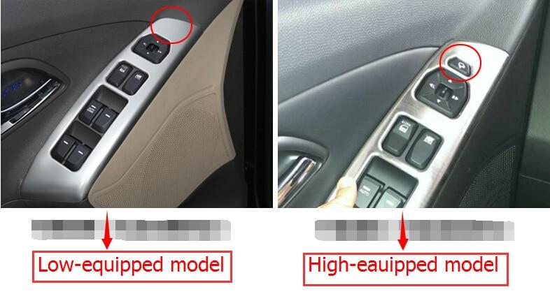 High equipped !13pcs ABS Chrome console board air outlet Cover Trim kits For Hyundai Tucson ix35 2010 2011 2012  2013 2014