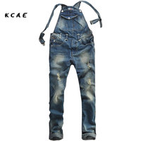 M 4XLSummer Fashion Casual Men S Cool Ripped Hole Blue Denim Overalls Male Jeans Jumpsuits Suspenders