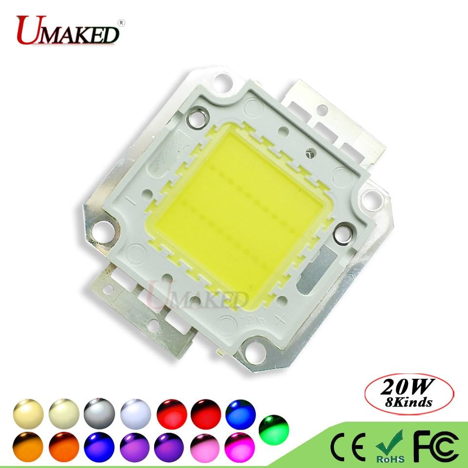 UMAKED High Power 20W LED Chip SMD COB Diode 30Mil Genesis Photonics Light chips Warm/Natrual/White/Cool For led Bulb Spotlights