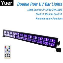 24 светодиодный s Disco ультрафиолетовая панель огни вечерние Dj лампа УФ Цвет светодиодный для настенных светильников на Рождество лазерный