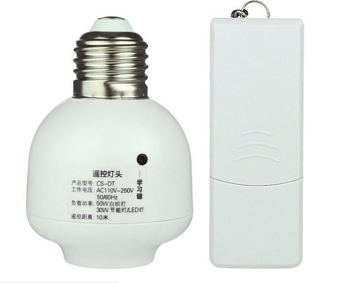 1 компл. новое беспроводной из светодиодов пульт дистанционного управления переключатель света Лампа E27 лампа держатель основы радиоуправляемая Лампа E27 гнездо база розничной упаковке